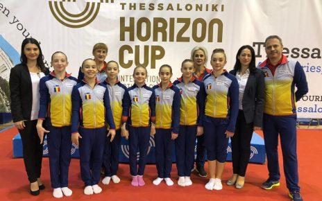 Gimnastele junioare pe podium în Grecia la Cupa Horizon 2