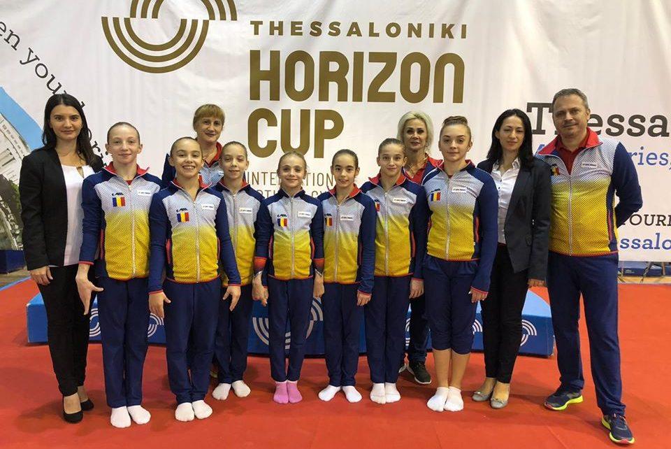Gimnastele junioare pe podium în Grecia la Cupa Horizon 1