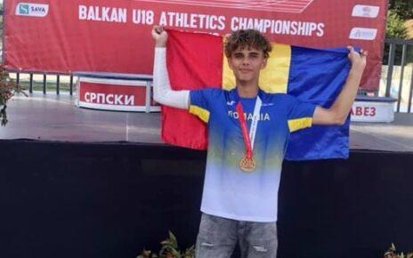 Juniorul Adelin Daniel Pop -campion balcanic la 800 m 1